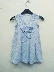 Grey Kids Polka Print Dress