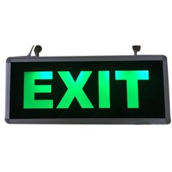 Rectangular Double Side LED Exit Signage, Board Thickness: 15 - 20 Mm