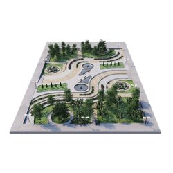 Plastic CAD / CAM 3D Landscaping Model