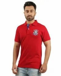 Mens Red Polo T Shirt