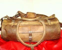 Brown Handicraft Villa Genuine Leather Large Capacity Duffel Bag