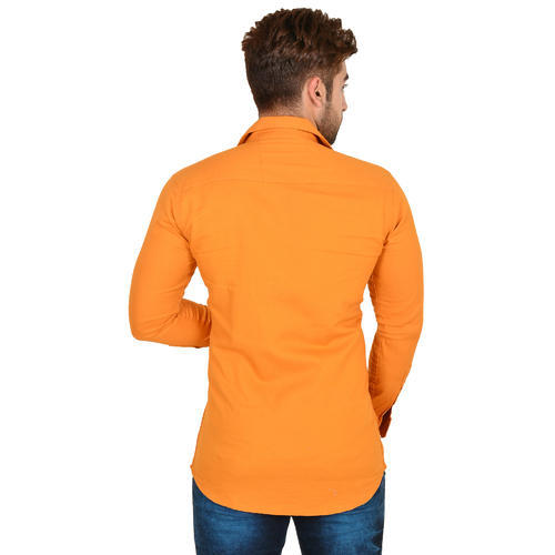 6ccc076d Orange Color Cotton Shirts For Men at Rs 325 /piece | Tonk Phatak ...
