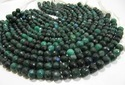 Green Coated Labradorite Beads