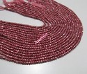 Pink Pyrite Rondelle Faceted Beads
