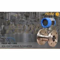Solvent  Turbine Flow Meter