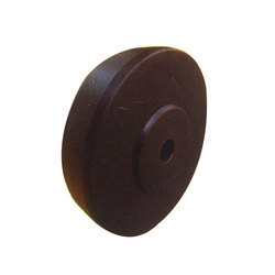 Brown Solid Trolley Wheel