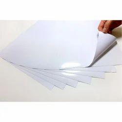 Pvc White Glossy Vinyl sticker Printing, Packaging Type: Sheet