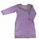 Ladies Purple Madhubani Kurti