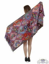Kashmiri Heavy Aari Embroidery Shawls