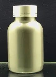 200CC Silver Color Capsule Jar With Metal Cap