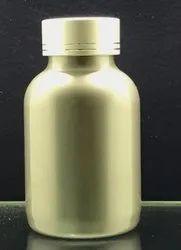 200CC Silver Color Capsule Jar With Metal Cap