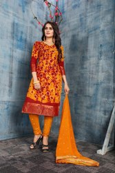 Pure Cotton Bandhani Suits