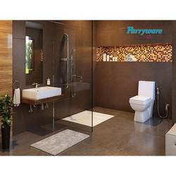 White Square Parryware Bath Fittings, for Home