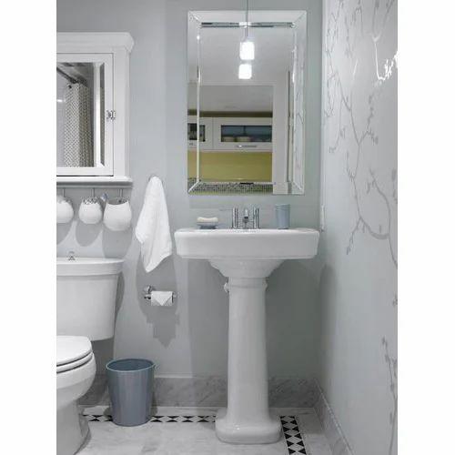 V Groove Bathroom Glass Mirror at Rs 300 /square feet   Bath Mirror ...