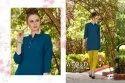 Short Plain Rayon  Kurti- Tunic Style