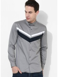Mens Grey Clubwear Shirts