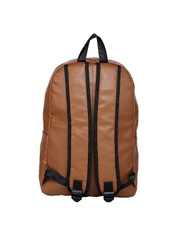 Tan PU Professional Office Laptop Backpack, Capacity: 20 L
