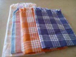 Cotton Checked Bath Towel