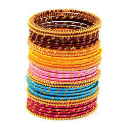 Colorful Silk Thread Bangle Set