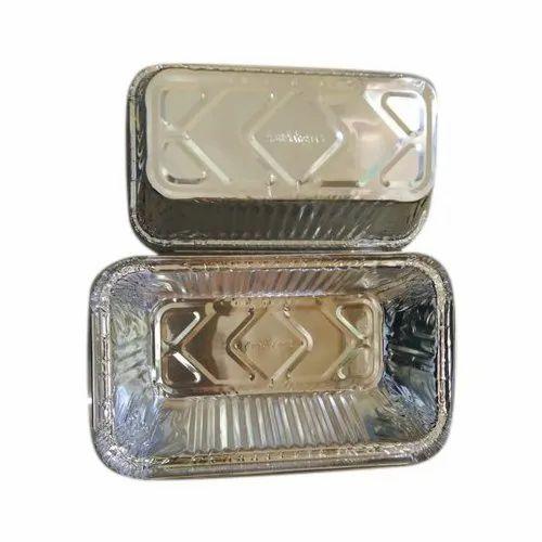 CK Rectangle 270ml Aluminium Foil Container, Thickness: 1-3mm