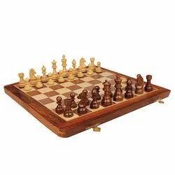 16 Travel Folding Sheesham Wood Chess Set