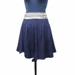 Short Plain Ladies Cotton Skirt