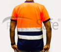 Reflective High Visibility T Shirts with 3M Scotchlite Tape (Round Collar - Citra)