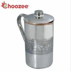 Choozee - Steel Copper Jug (Embossed) - 2.2 Ltr