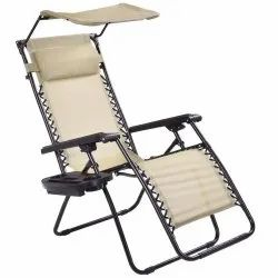 Kawachi Relax Recliner Zero Gravity Chair Lounge Patio Outdoor Yard Pool Recliner With Sunshade