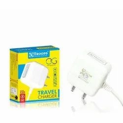 1 Meter White Troops Travel Charger, for Mobile Charging