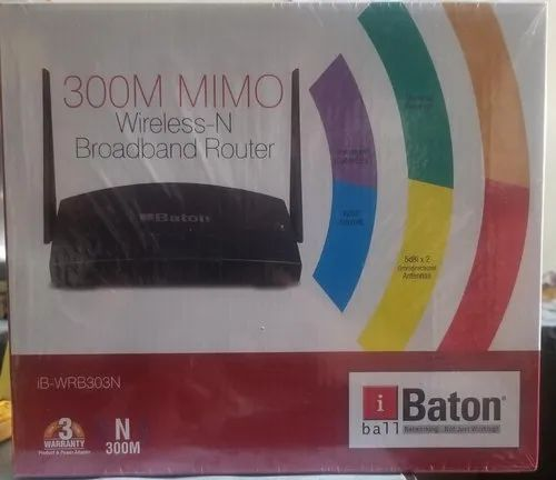 4G Wireless Or Wi-fi IBall WRB-303N Router, 300mbps, Model Number: N300