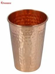 Pure Copper Taper Glass - Hammered