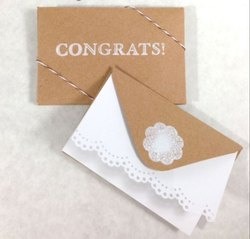 Rectangular Designer Printed Gift Card, Size: 8x4 Inch