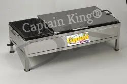 Stainless Steel Chapati Bhatti 18x36 Inches - Casting Puffer Type