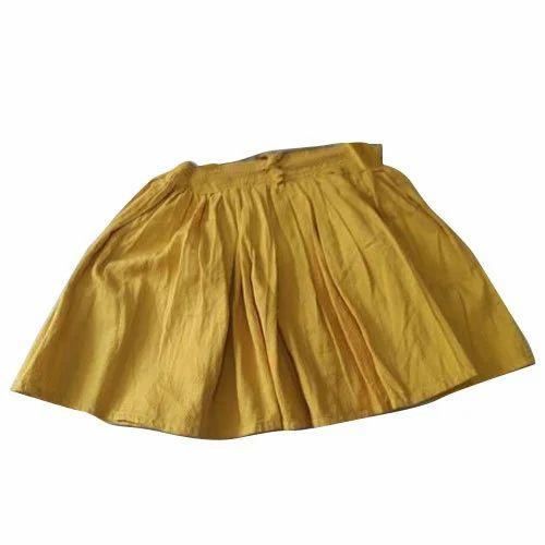 79662d014 Cotton Plain Girls Kid Fancy Yellow Skirt, Rs 100 /piece   ID ...