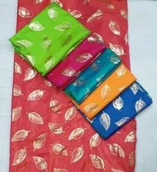 Heeva Silk With Foil Saree Fabric