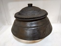 Clay Black Biryani Pot Large-MK009