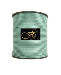 Green Mosaic Metallic Round Leather Cord