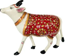 Metal Meenakari Cow Statues