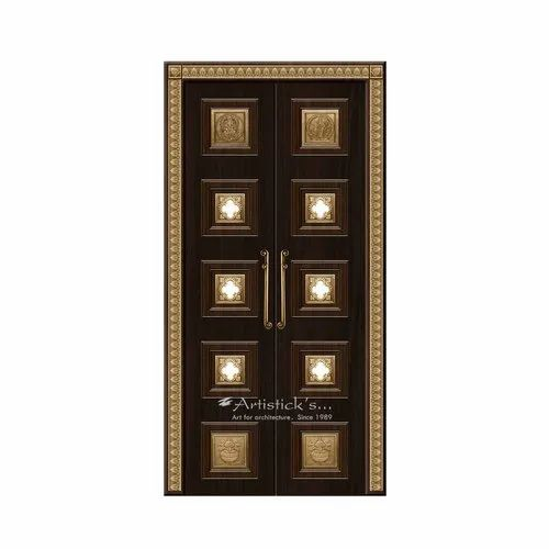 Pooja Room Door Designs With Glass For Home | ID: 21592869733