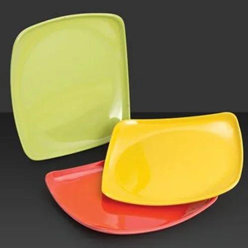 Avon Melamine Colored Square Plate