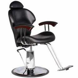 Black Leather Hydraulic Chair