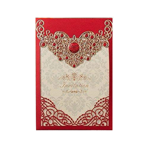 Red Baby Shower Invitation Card