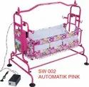 SW002 Automatic Pink Baby Cradle