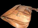Genuine Leather Curve Messenger Bag