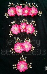 Artificial flowers hair brooch