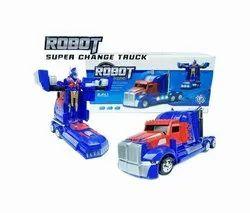 Plastic Blue Robot Truck Toy