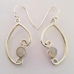 Party wear Earing Silver Jewelry, Packaging Type: Box, Up To 12