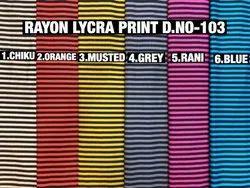 Rayon Lycra Printed Fabric