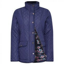 Full Sleeve Blue Ladies Quilted Jacket